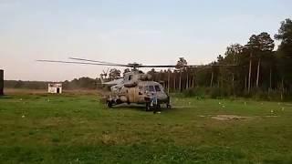 Взлет вертолета Ми-8АМТШ
