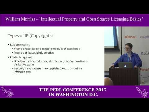 "William Morriss - ""Intellectual property and open source licensing basics"""