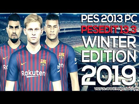 PES 2013 Option File Winter Transfers 30/01/2019 For PESEdit 13.0 - 13.2