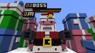 Minecraft Evil Santa Boss Fight