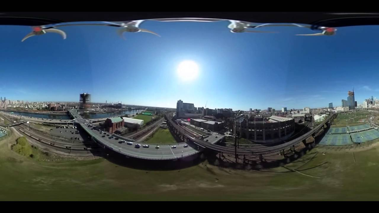 VIRTUAL REALITY Camera Attached To A DRONE 360 VR