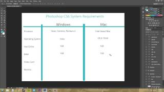 Photoshop CS6 Tutorial - 2 - System Requirements