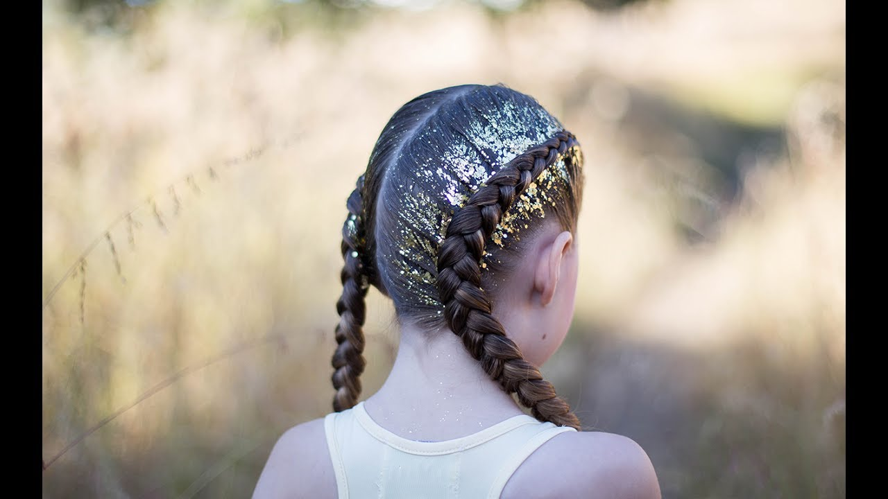 Dutch glitter braids cute girls hairstyles youtube dutch glitter braids cute girls hairstyles urmus