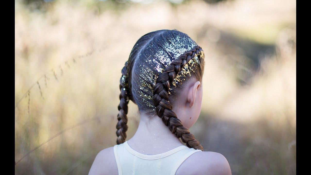Dutch Glitter Braids | Cute Girls Hairstyles - YouTube