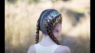 Dutch Glitter Braids | Cute Girls Hairstyles