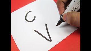 Cómo activar cartas de ''CV'' en una Caricatura de los helados! Diversión con Alfabetos de Dibujo para niños