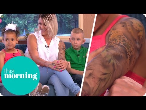 Our Children Love Getting Temporary Tattoo Sleeves | This Morning