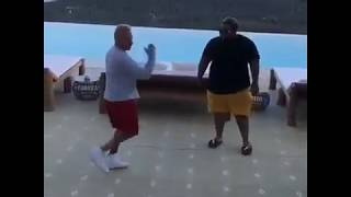 Carnage learning how to dance from a
