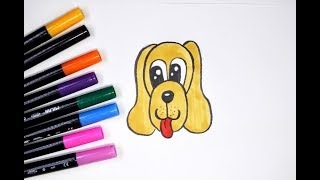 Как нарисовать собаку. Простое рисование - рисуем мордочку собаки