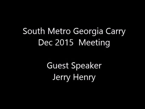 SMGCO  - Dec 2015 -  Guest Speaker Jerry Henry