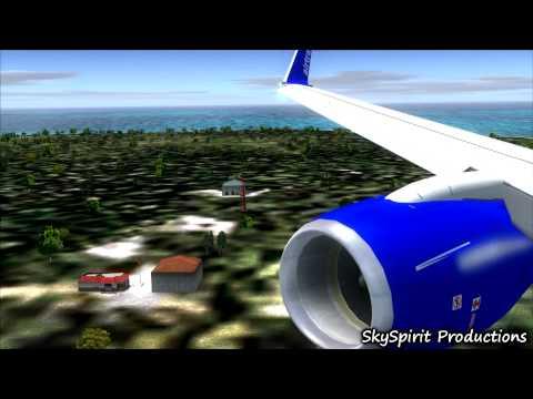 -Bahamas Arrival- AirTran Airways B737-700 Landing @ Nassau Int'l Airport RWY 14