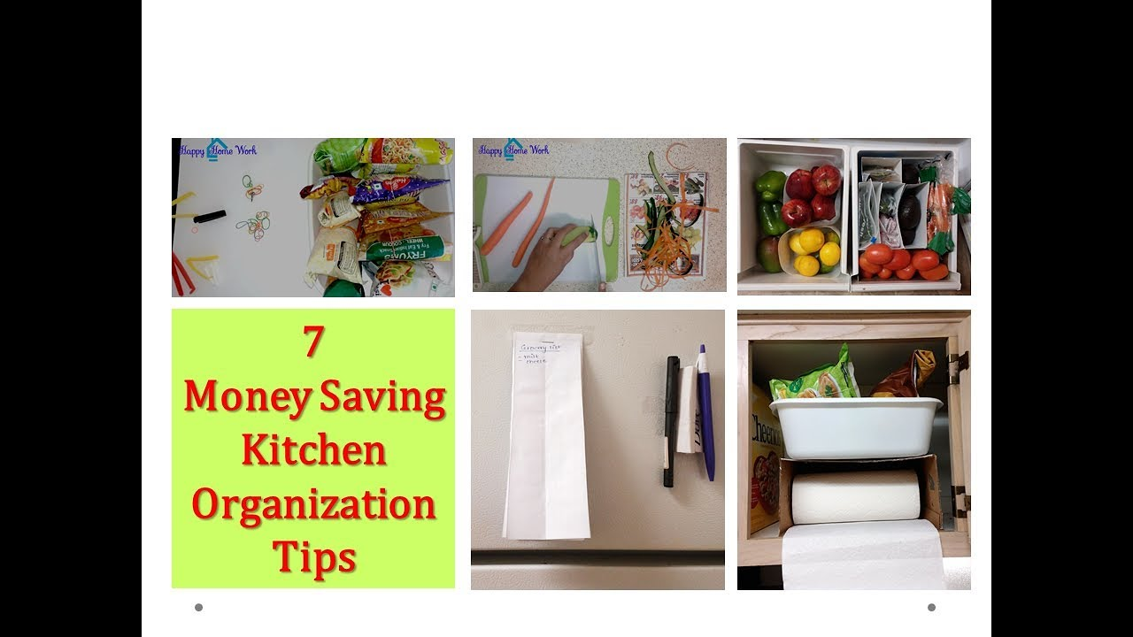 How To Organize Kitchen Without Spending Money   7 Tips For Organized  Kitchen ( DIY Organizers)