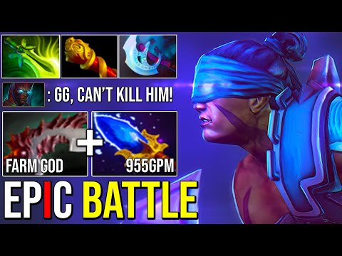 EPIC Farm Machine Anti Mage Facing Right Click God Absolutely Intense Battle Dota 2