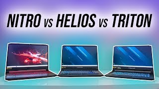 Acer Nitro 5 vs Helios 300 vs Triton 500 Comparison
