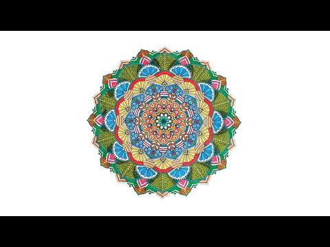 Mandala | Blossomed Illusions | Adult Coloring | Left-Handed Artist | Coloring Book