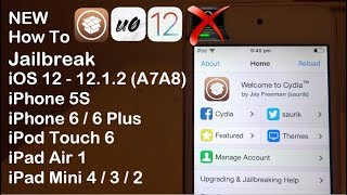 NEW JAILBREAK iOS 12 - 12.2 / 12.4 NO Computer iPhone 6 6 Plus 5S iPod Touch 6 iPad Air Mini 4 3 2