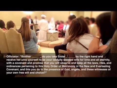 Mormon Temple Wedding aka Sealing Ceremony
