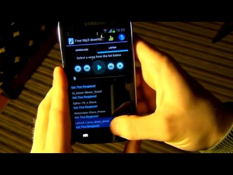 Free Mp3 Downloads Android application demonstration