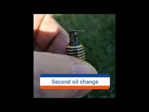 Last of the metal on the oil drain plug, I hope.