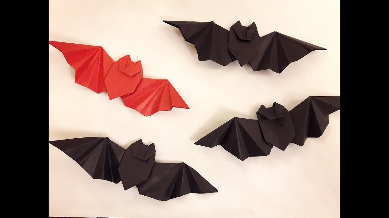 How To Make A Paper Batman Logo Origami Bat Youtube