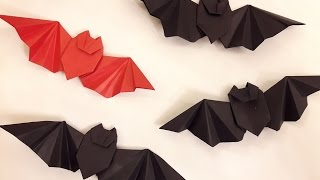 How to make a paper BATMAN logo? (ORIGAMI BAT)