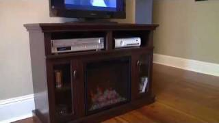 """Middleton 18"""" Electric Fireplace In Brown Espresso - 18mm9067-ne93"""