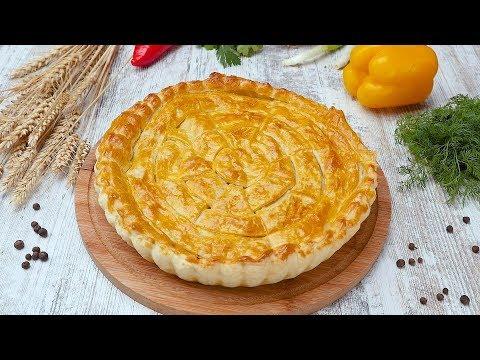 Пирог из слоеного теста со шпинатом - Рецепты от Со Вкусом
