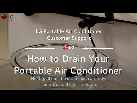 LG Portable AC - How to Drain Your Portable AC