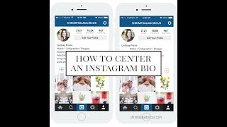 How to make a centered bio for Instagram!?