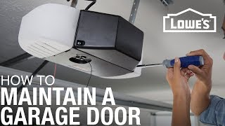 How To Maintain a Garage Door