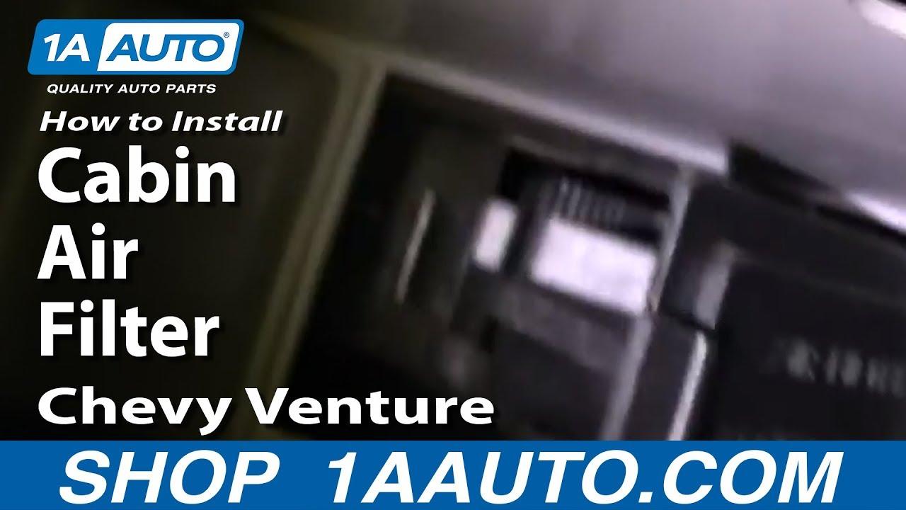 medium resolution of how to install replace cabin air filter chevy venture pontiac montana 97 00 1aauto com