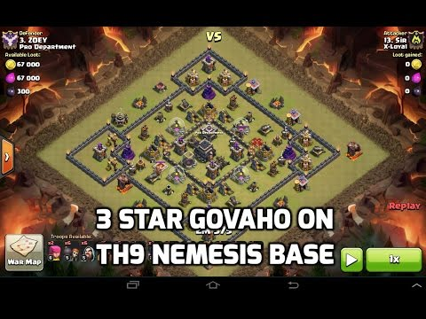 3 Star TH9 Nemesis Base with GoVaHo | Mister Clash | Clash of Clans