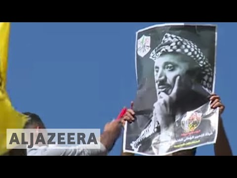 Palestinians mark anniversary of Arafat's death in Gaza