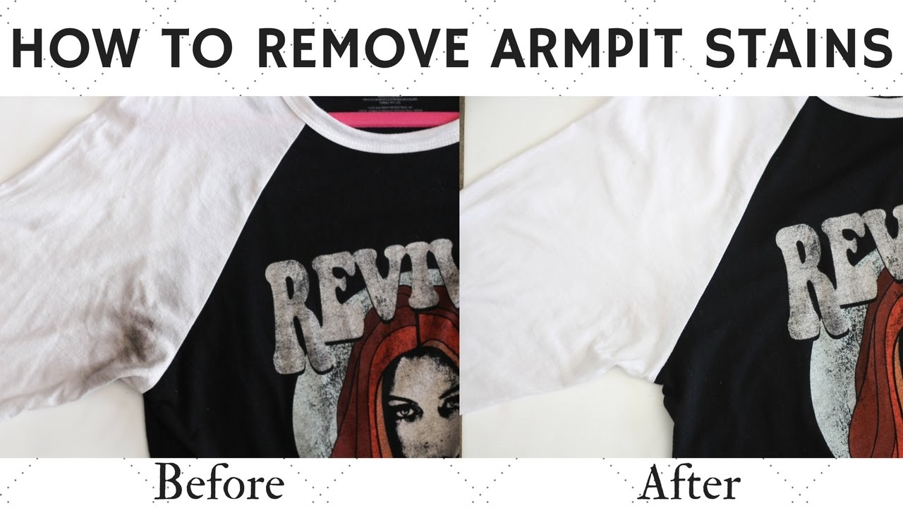 Diy How To Remove Armpit Stains Youtube