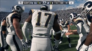Madden NFL 18 - Los Angeles Rams vs Seattle Seahawks - Gameplay (HD) [1080p60FPS]