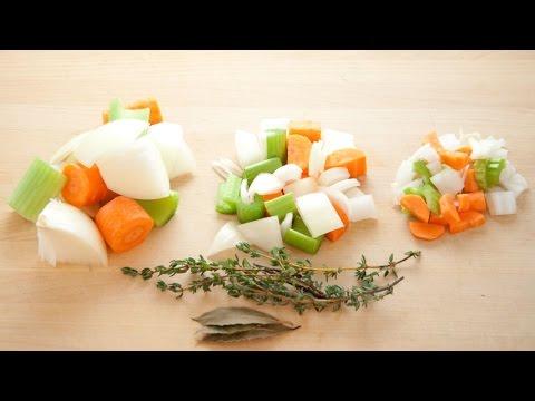 How To Cut Vegetable Mirepoix Mirepoix Ratios Mirepoix Cut
