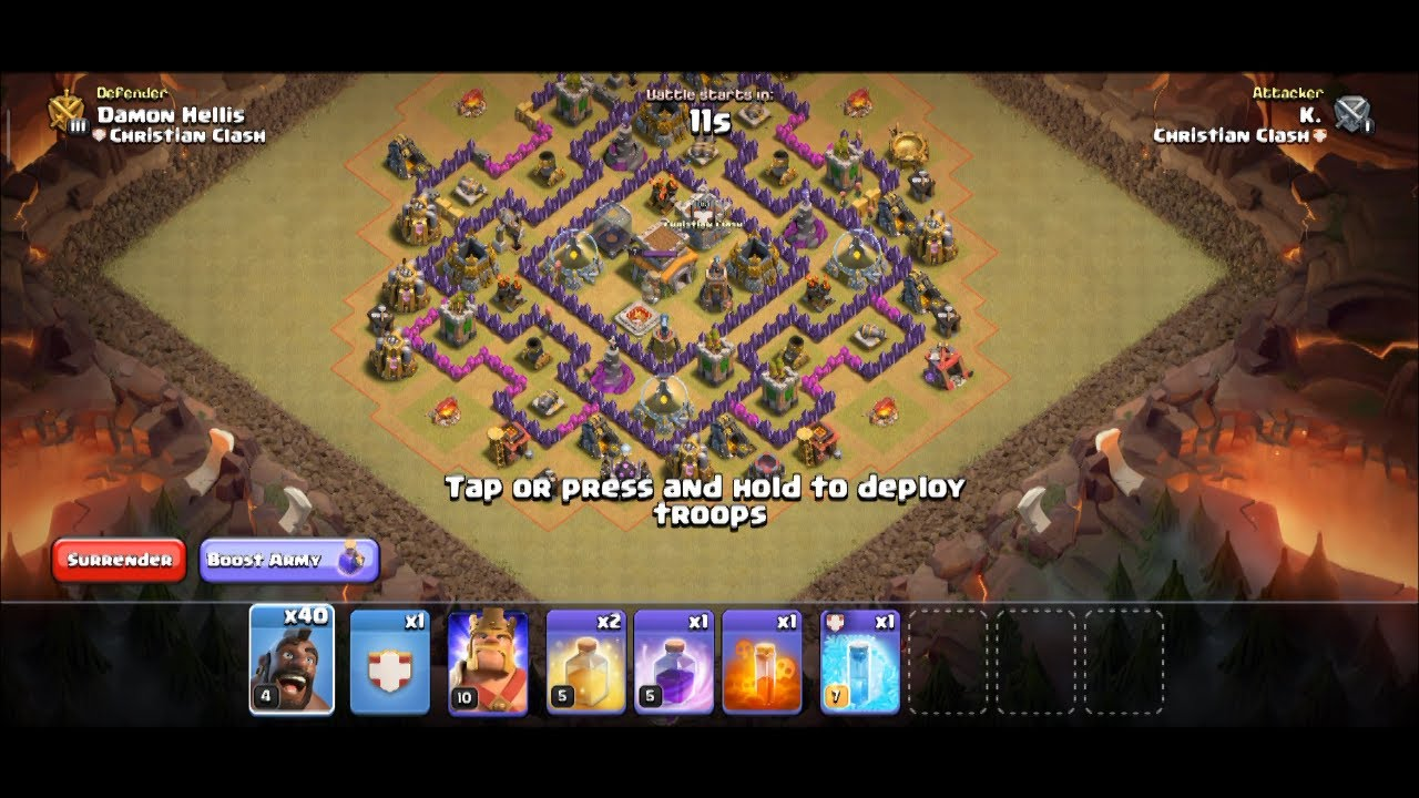 Clash Of Clans Hog Attack - YouTube
