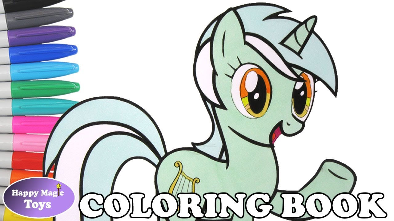 MLP Lyra Heartstrings Coloring Book Pages My Little Pony Lyra ...