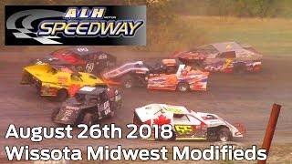 August 26th 2018 ALH Motor Speedway Wissota Midwest Modifieds Heats and Feature