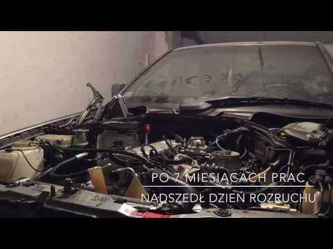 Mercedes C124 M102 2.3  engine start after restoration