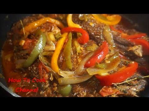 JAMAICAN BROWN STEW FISH RECIPE| | Step By Step