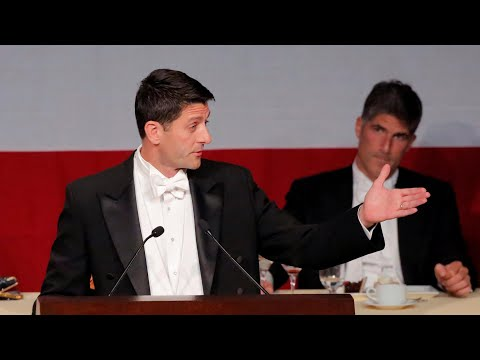Speaker Paul Ryan roasts Donald Trump at charity dinner