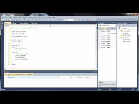 C++ Tutorial 20-1 - Classes and Object-Oriented Programming (Part 1)