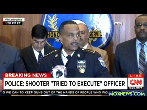 Philadelphia Police Press Conference On Cop Ambushed And Shot