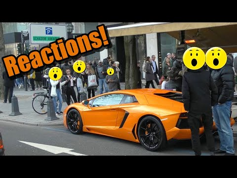Lamborghini Aventador - People's Reactions in Düsseldorf!