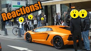 Lamborghini Aventador - People Reactions in Düsseldorf!