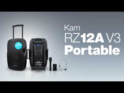 QuickLook at the Kam RZ12A V3 Portable - active speaker with dual wireless mic system