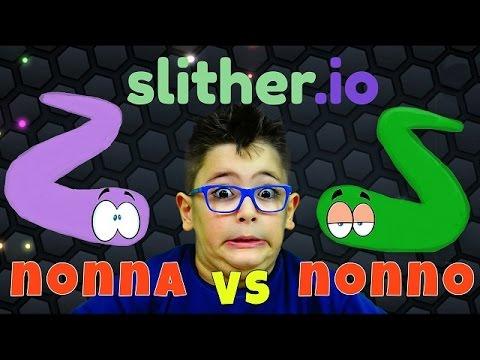 SFIDA SLITHER.IO - NONNO vs NONNA - Leonardo D