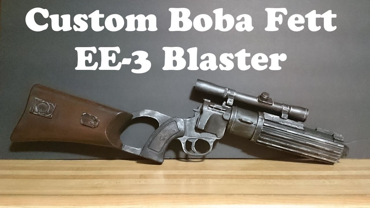 Rubies Boba Fett Blaster Custom Paint Job Youtube