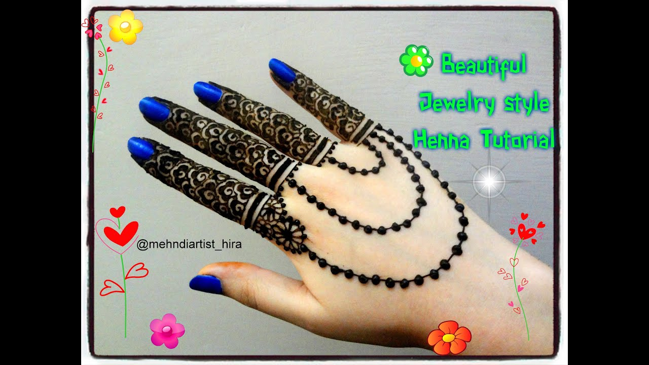 Mehndi Party List : Beautiful easy simple henna jewellery inspired mehndi designs for